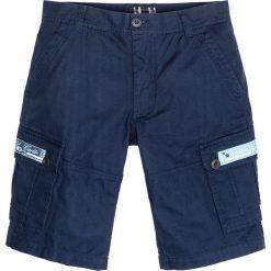 Bermudy bojówki Loose Fit bonprix ciemnoniebieski. Niebieskie bermudy męskie marki bonprix. Za 109,99 zł.