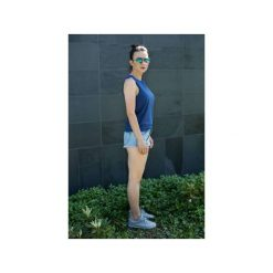 Topy damskie: Top Dziewczyna Surfera Szary granatowy