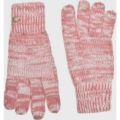 Roxy - Rękawiczki. Czerwone rękawiczki damskie Roxy, z dzianiny. W wyprzedaży za 69,90 zł.