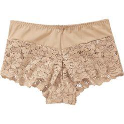 """Figi """"maxi panty"""" bonprix cielisty. Brązowe figi marki bonprix, w koronkowe wzory, z koronki. Za 34,99 zł."""