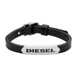 Diesel Męska Bransoletka Skóra dx0999040. Czarne bransoletki męskie Diesel. W wyprzedaży za 332,00 zł.