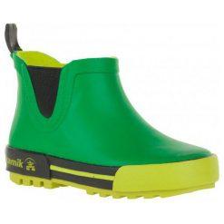 Kamik Kalosze Rainplaylo Green/Vert 30. Zielone kalosze chłopięce marki Kamik. W wyprzedaży za 99,00 zł.