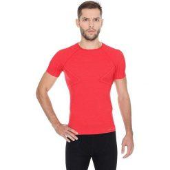 Brubeck Koszulka męska z krótkim rękawem ACTIVE WOOL czerwony r. M (SS11710). Czerwone koszulki sportowe męskie marki Brubeck, m. Za 109,99 zł.