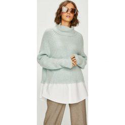 Answear - Sweter. Szare swetry klasyczne damskie ANSWEAR, l, z dzianiny, z golfem. W wyprzedaży za 119,90 zł.