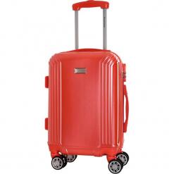 Walizka w kolorze koralowym - 56 l. Brązowe walizki marki Platinium, z materiału. W wyprzedaży za 219,95 zł.