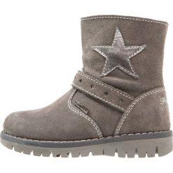 Primigi Kozaki grigio scuro. Szare buty zimowe damskie Primigi, z materiału, na wysokim obcasie. W wyprzedaży za 194,35 zł.