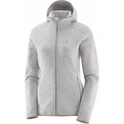 Salomon Bluza Polarowa Bise Hoodie W Vaporous Gray Xs. Szare bluzy polarowe marki Salomon, na sznurówki, outdoorowe, gore-tex. W wyprzedaży za 399,00 zł.