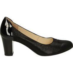 Czółenka - F321 B NE J17. Czarne buty ślubne damskie Venezia, ze skóry. Za 229,00 zł.