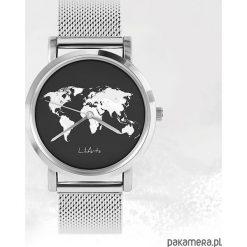 Zegarki męskie: Zegarek - Mapa świata - metalowy