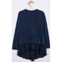Sly - Sweter dziecięcy 128-164 cm. Niebieskie swetry dziewczęce marki DOMYOS, z elastanu, street, z okrągłym kołnierzem. Za 169,90 zł.