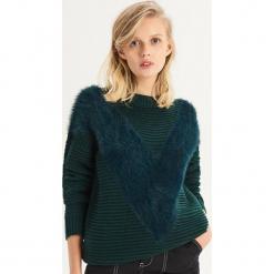 Sweter oversize z puszystą aplikacją - Turkusowy. Niebieskie swetry oversize damskie Sinsay, l. Za 79,99 zł.