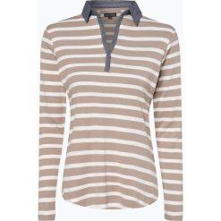 Franco Callegari - Damska koszulka z długim rękawem, beżowy. Brązowe t-shirty damskie Franco Callegari, w paski, z klasycznym kołnierzykiem. Za 99,95 zł.