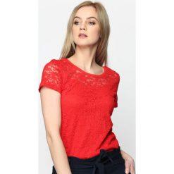 Bluzki asymetryczne: Czerwona Bluzka Do Right Woman