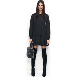 Czarna Sukienka Casual z Falbanką na Długi Rękaw. Białe długie sukienki marki numoco, do pracy, l, z nadrukiem, z elastanu, biznesowe, z kopertowym dekoltem, z długim rękawem, kopertowe. W wyprzedaży za 76,23 zł.