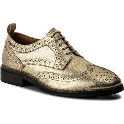 Oxfordy PEPE JEANS - Hackney Met PLS10332 Gold 099. Żółte jazzówki damskie marki Pepe Jeans, z jeansu, na płaskiej podeszwie. W wyprzedaży za 289,00 zł.