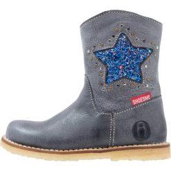 Botki damskie lity: Shoesme Botki kowbojki i motocyklowe dark blue