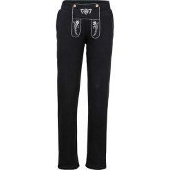 Spodnie dresowe damskie: Spodnie dresowe z haftem bonprix czarny