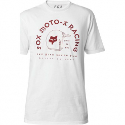 FOX T-Shirt Męski Fifty Premium L Biały. Białe t-shirty męskie z nadrukiem FOX, l. Za 117,00 zł.