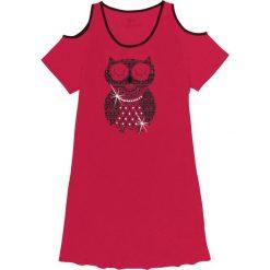 Koszule nocne i halki: Koszula nocna z wycięciami bonprix czerwony z nadrukiem
