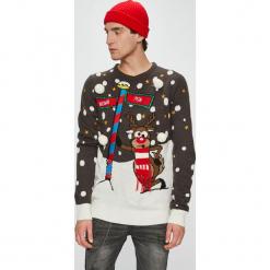 Brave Soul - Sweter. Niebieskie swetry klasyczne męskie marki Brave Soul. Za 129,90 zł.