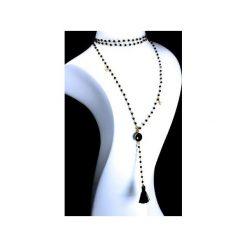 Naszyjniki damskie: Naszyjnik Spinel złoto chwost