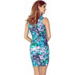 Lucia Sukienka z golfem BEZ RĘKAWKÓW - KWIATY ZIELONE ART. Zielone sukienki marki morimia, s, w kwiaty, z golfem. Za 167,99 zł.
