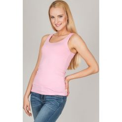 Bluzka basic bokserka różowa. Czerwone bluzki z odkrytymi ramionami Yups, m, z bawełny, młodzieżowe. Za 29,99 zł.
