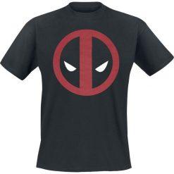 Deadpool Logo T-Shirt czarny. Czarne t-shirty męskie z nadrukiem Deadpool, l, z okrągłym kołnierzem. Za 54,90 zł.