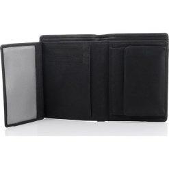 Portfele męskie: Skórzany elegancki portfel męski Franko Czarny