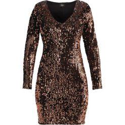 Sukienki hiszpanki: ONLY ONLCONFIDENCE Sukienka koktajlowa black/sequins copper