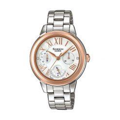 Zegarek Casio Damski Sheen SHE-3059SG-7AUER Swarovski MultiData. Szare zegarki damskie CASIO. Za 517,00 zł.