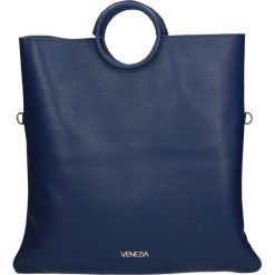 Torba - 175-004G-O BL. Szare torebki klasyczne damskie Venezia, ze skóry. Za 339,00 zł.