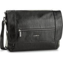 Torba na laptopa LANETTI - RM0409  Czarny. Czarne plecaki męskie Lanetti, ze skóry ekologicznej. Za 139,99 zł.