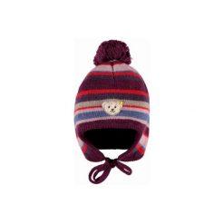 Steiff  Girls Czapka lilac - fioletowy - Gr.Moda (6 - 24 miesięcy ). Fioletowe czapeczki niemowlęce Steiff, z aplikacjami, z bawełny. Za 125,00 zł.