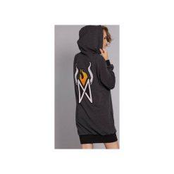 Sukienko-bluza Hot Madgirl - grafit. Szare bluzy z kieszeniami damskie Madnezz, l, z aplikacjami, z bawełny. Za 249,00 zł.