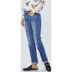 Levi's - Jeansy 712. Brązowe jeansy damskie rurki Levi's®, z bawełny. Za 399,90 zł.