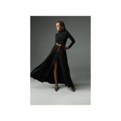 Sukienka Storm - grafitowa. Szare sukienki dzianinowe marki Madnezz, s, z aplikacjami, z golfem, dopasowane. Za 369,00 zł.
