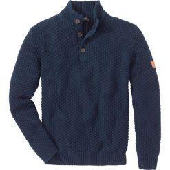 Swetry klasyczne męskie: Sweter Slim Fit bonprix ciemnoniebieski
