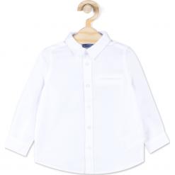 Koszula. Białe koszule chłopięce z długim rękawem marki ELEGANT BABY BOY, z bawełny, z klasycznym kołnierzykiem. Za 54,90 zł.