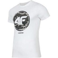 T-shirty męskie z nadrukiem: T-shirt męski TSM243 – biały