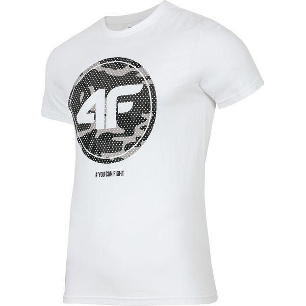 de1eb64d1 T-shirt męski TSM243 - biały - Białe t-shirty męskie 4f, m, z ...