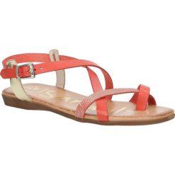 Sandały skórzane Oh My Sandals 3441. Pomarańczowe sandały damskie marki Oh My Sandals, na koturnie. Za 109,99 zł.