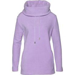 Sweter z polaru bonprix w kolorze bzu. Fioletowe swetry klasyczne damskie bonprix, z polaru. Za 74,99 zł.