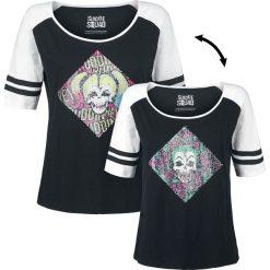 Suicide Squad Harley and Joker Koszulka damska czarny/biały. Białe t-shirty damskie Suicide Squad, xl, z okrągłym kołnierzem. Za 79,90 zł.