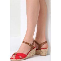 Czerwone Sandały She Is Crazy. Czerwone sandały damskie vices, na koturnie. Za 79,99 zł.