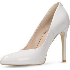 Czółenka MIDORI. Szare buty ślubne damskie Gino Rossi, z lakierowanej skóry, na szpilce. Za 179,90 zł.