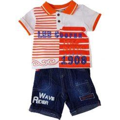 T-shirty chłopięce z krótkim rękawem: 2-częściowy zestaw w kolorze pomarańczowym