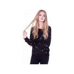 Czarna Bluza w Srebrne Gwiazdy. Czarne bluzy damskie Heroesque, s, z bawełny. Za 160,00 zł.