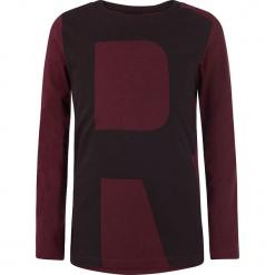 Koszulka w kolorze ciemnoczerwonym. Czerwone t-shirty chłopięce z długim rękawem marki Retour Denim de Luxe, z bawełny. W wyprzedaży za 49,95 zł.