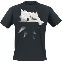 The Witcher Wolf Silhouette T-Shirt czarny. Czarne t-shirty męskie The Witcher, s. Za 74,90 zł.